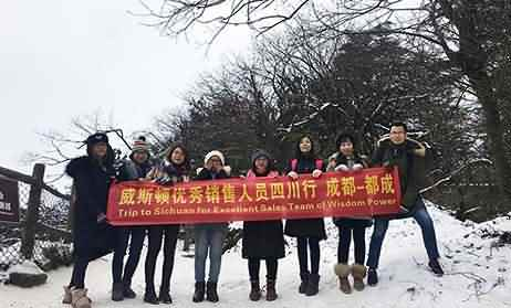 Trip to Sichuan for Excellent Sales Team of Wisdom Power
