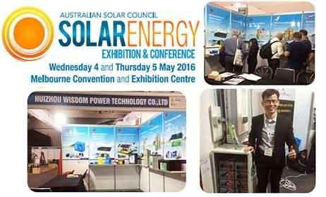 Wisdom Power Participate in the solar energy exhibition in Australia