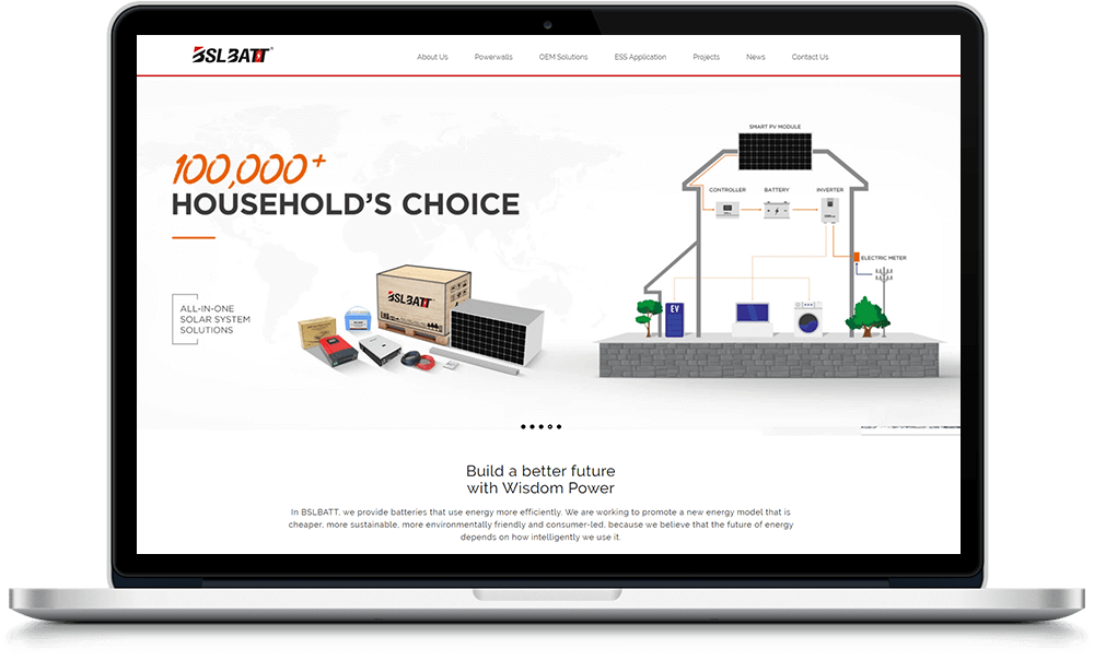 Home battery web page