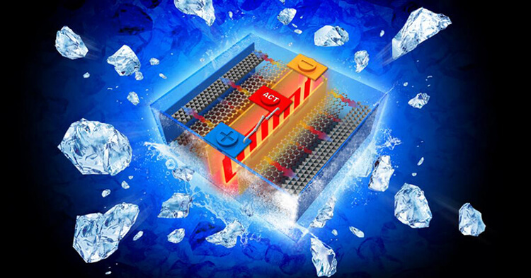 Freezing Li-ion Batteries