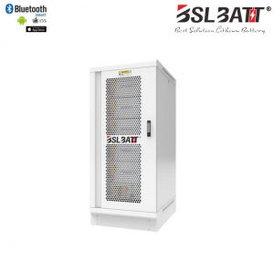 High Voltage 179 kWh Lithium Iron LiFePO4 Battery with integrated BMS and external System Control enclosure
