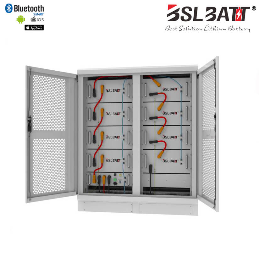 High Voltage Battery System 174kWh LiFePO4 battery and BMS integration