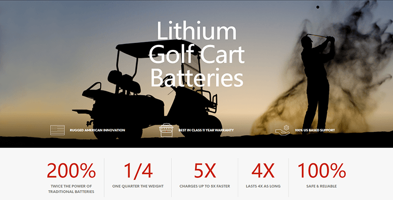 lityum golf arabası pilleri 48 volt