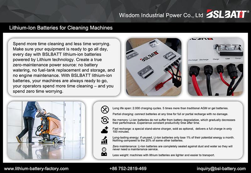 floor machines Lithium-Ion Batteries