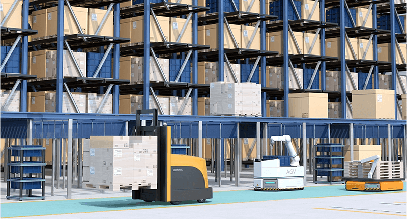Lithium Ion Smart Battery System in AGV
