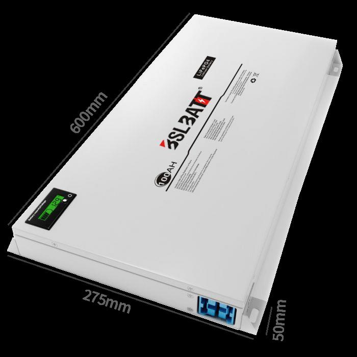 BSLBATT 100Ah Slim Lithium Battery 12V